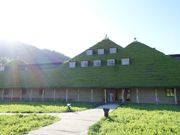 草屋根の店舗
