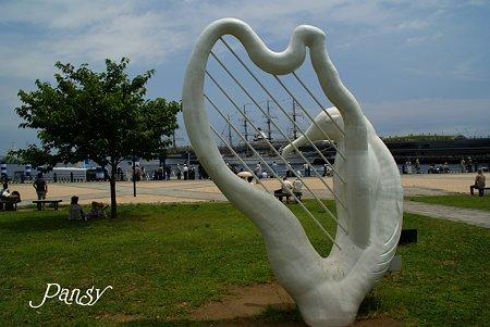 カモメのハープ・・ 横浜 seaside sketch・・5