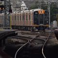 写真: 電車が来る。