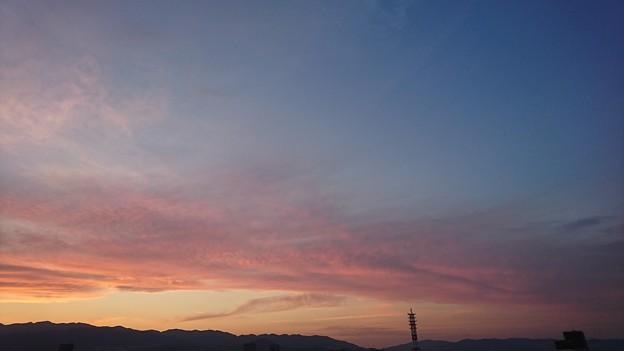 色鮮やかな曇