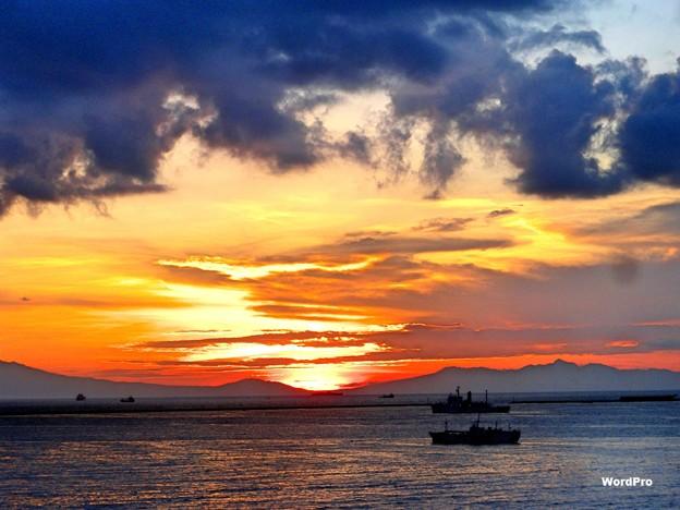 マニラ湾先日の夕陽