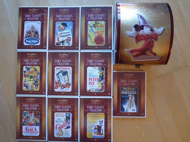 4.Disney Classic DVDセット ケース付き