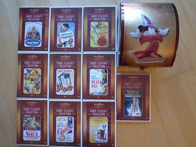 写真: 4.Disney Classic DVDセット ケース付き
