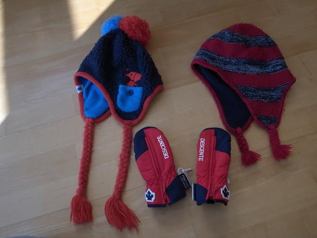 3.ニット帽手袋セット(2~3歳用)