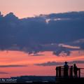 写真: みんなの夕空。