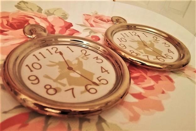ふしぎの国のアリス懐中時計プレート ディズニー