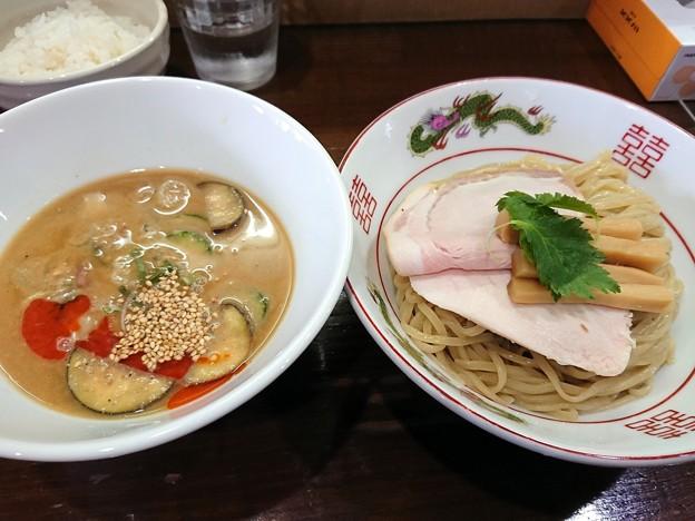 南部小麦麺と冷や汁のつけ麺@サンド・盛岡市