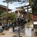 京都、清水寺(3)地主神社鳥居 H29,4,5