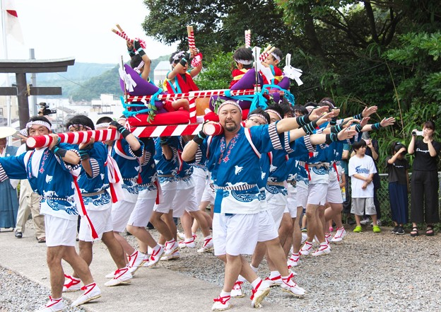 御崎神社祭り(4)だんじり舞い H29,7,28