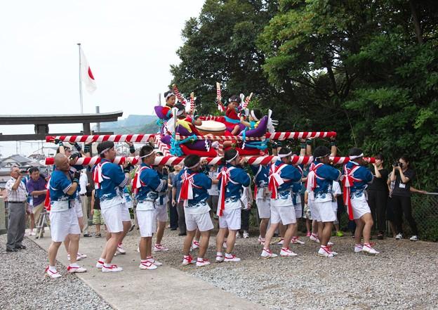 御崎神社祭り(6)だんじり舞い H29,7,28
