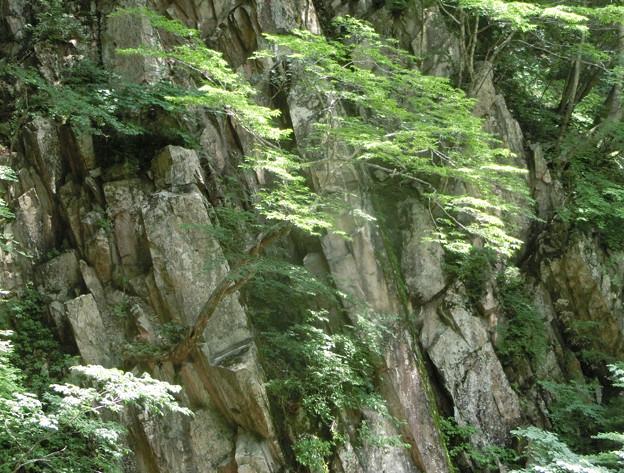 0719三段峡6散弾滝3山水画