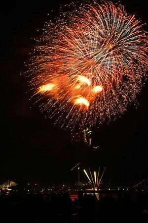 海の公園で花火2!(090822)