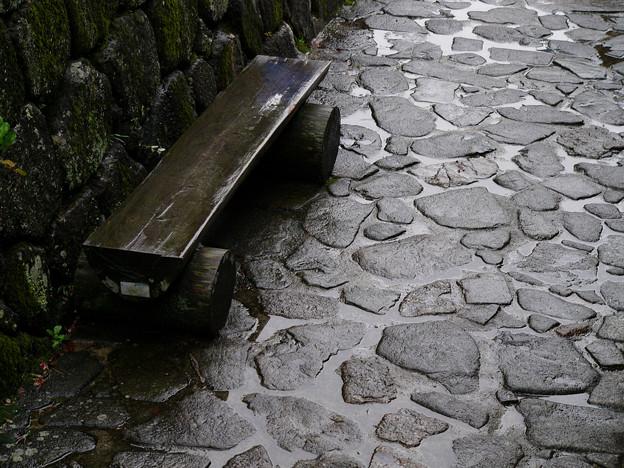 馬籠宿・木のベンチ【蔵出し】