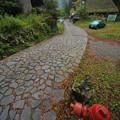 写真: 板取宿:石畳の旧街道