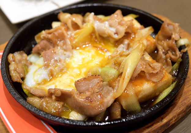 豚肉のスタミナ豆腐ステーキ