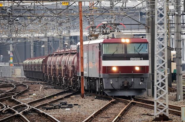 EH500 1号機牽引5097レ安中貨物高崎1番通過!
