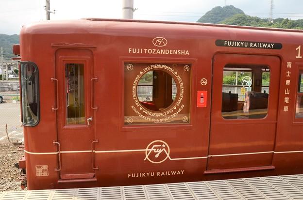 富士登山電車4号終点大月到着