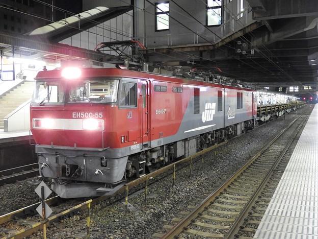 金太郎55号機牽引ロンチキ貨物9097レ小山11番停車