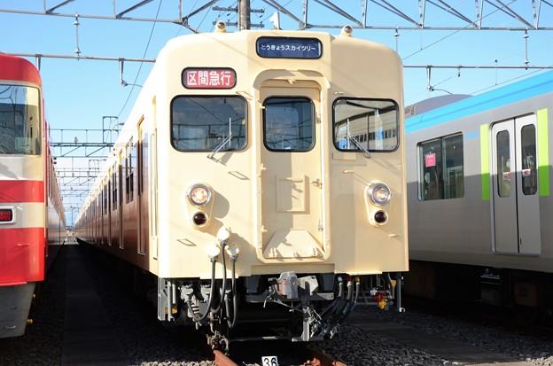 東武8000系セイジクリーム復元塗装81111F 区間急行とうきょうスカイツリー行き
