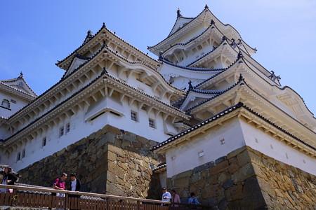 姫路城下から