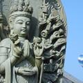 写真: お寺と気球3