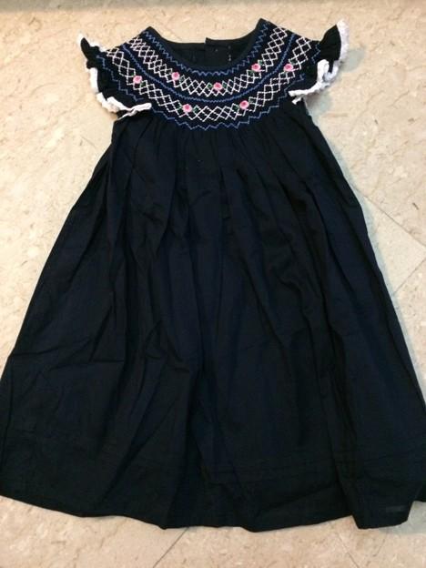 64. 新品 紺色刺繍ドレス サイズ3歳 8SGD