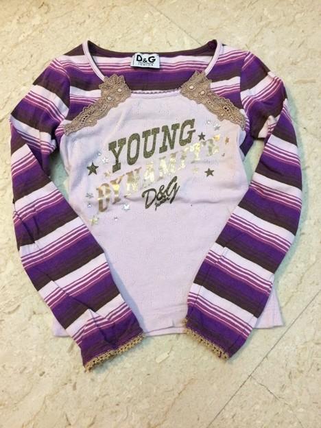 67. D&G ピンク&紫 トップ サイズ2-3歳 10SGD