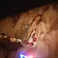 写真: 壁画の女