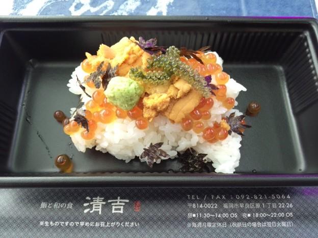博多駅前広場のA 級グルメでウニいくら♪美味し~♪