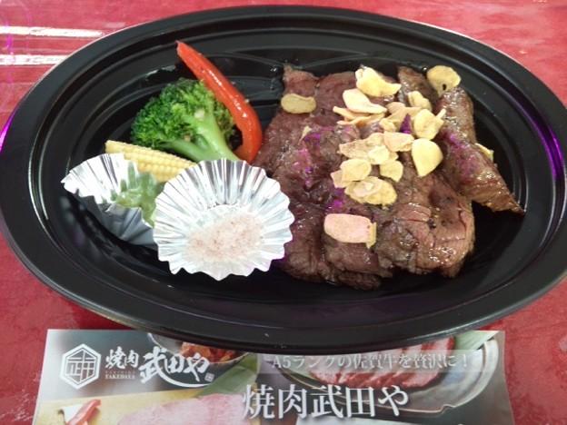 A級グルメで佐賀牛イチボステーキ。美味しー♪