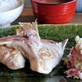 写真: 焼き魚とあらおろし