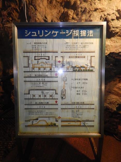 写真: 尾去沢鉱山 坑道内部3
