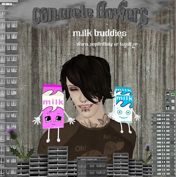 CONCRETE FLOWERS- MILK BUDDIES