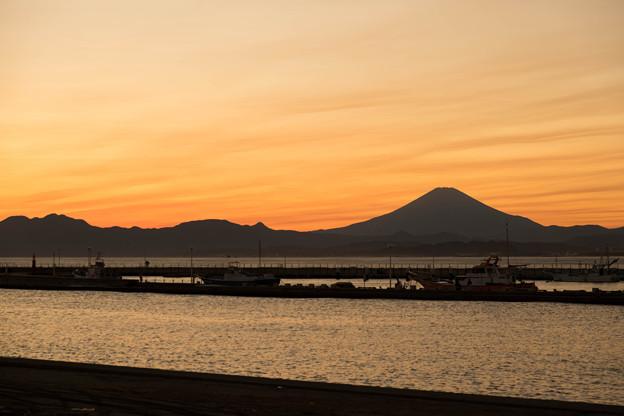 片瀬漁港 夕景
