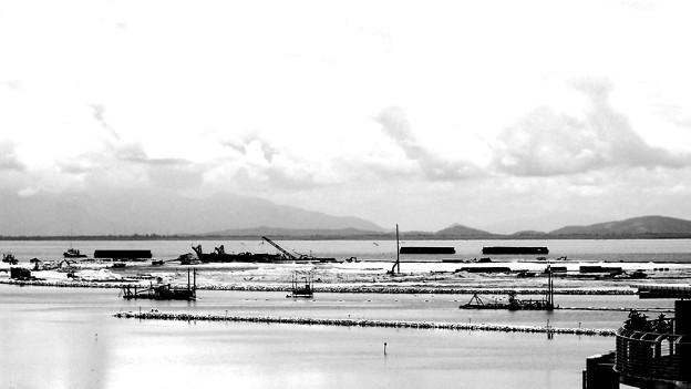 写真: ガーニーの海が埋められる。