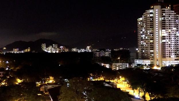 テラスからの夜景。