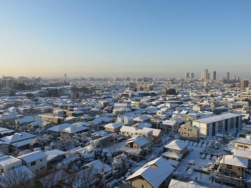 積雪(2018年1月23日07:37撮影、さいたま市浦和区にて)