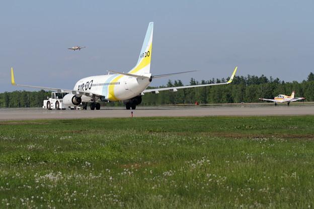 B737 ADO とBeechA36 航大機  OBO