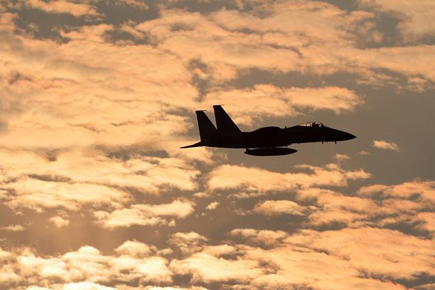 Photos: F-15 夕焼け雲