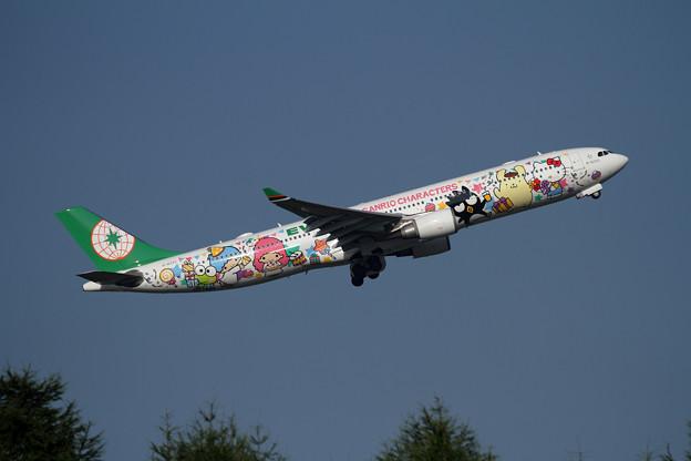 A330 EVA Sanrio パーティーJET B-16333 (3)