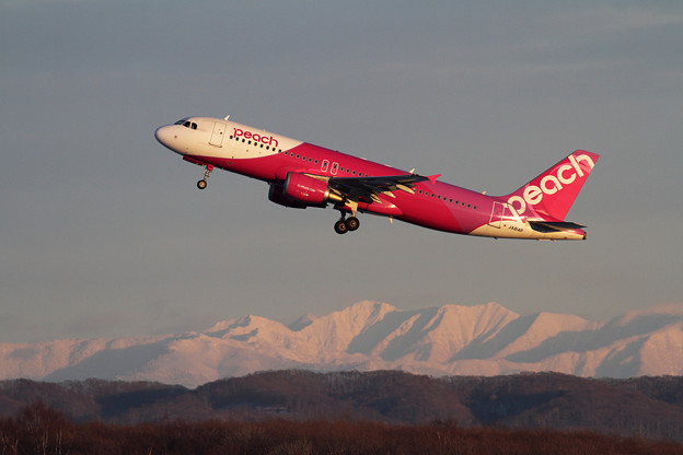 A320 Peach takeoff