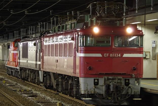 EF81 134+EF64 1001(AT入場)+DD51 888(展示) 配給輸送
