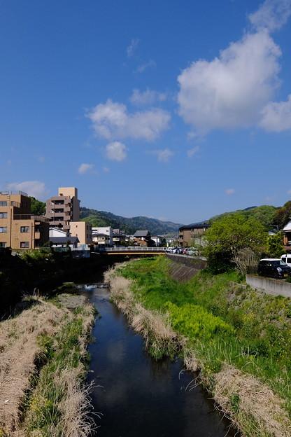 敷島橋を渡る