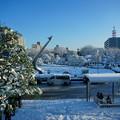 〈雪の航空公園篇〉