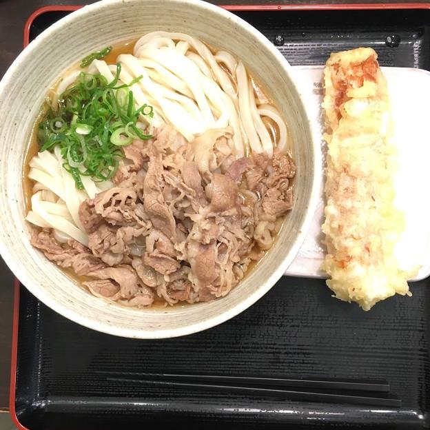 新橋/おにやんま 新橋店/牛肉ぶっかけ(冷) ちくわ天