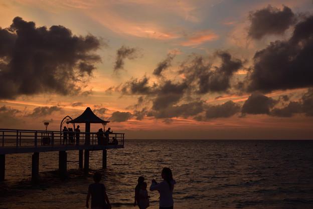 フサキビーチの夕暮れ