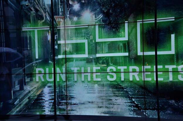 雨に煙る街