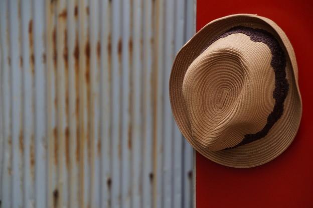 目印の帽子