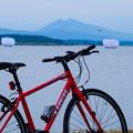 赤トンボと赤い自転車