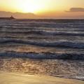 Photos: 荒れる夕波